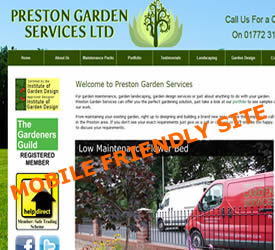 Mobile friendly web sites responsive design web sites for General garden services