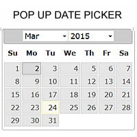 Pop Up Date Picker PHP