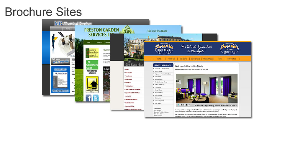 Brochure site design
