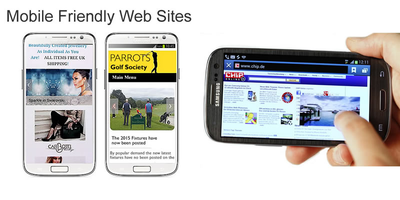 Mobile friendly responsive designed websites